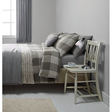 Buy John Lewis Brushed Cotton Herringbone Duvet Cover and Pillowcase Set Online at johnlewis.com