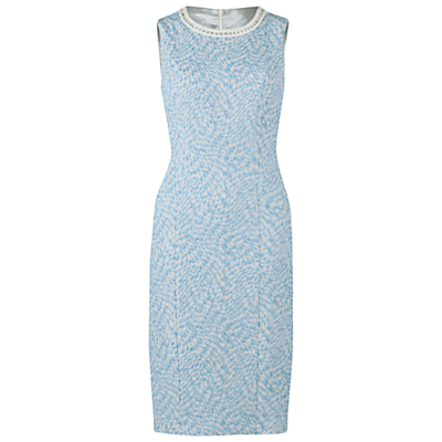 Gina Bacconi Jacquard Dress, Blue