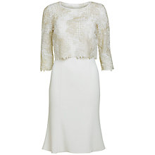 Buy Gina Bacconi Moss Crepe Dress With Embroidered Bodice, Cream Online at johnlewis.com