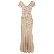 Buy Miss Selfridge Mia Maxi Dress, Nude Online at johnlewis.com