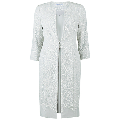 Gina Bacconi Embellished Dress With Coat, Silver Mist