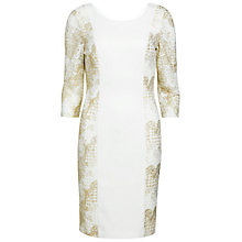Buy Gina Bacconi Moss Crepe Geo Floral Dress, Cream Online at johnlewis.com