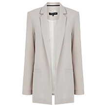 Buy Warehouse Longline Crepe Jacket, Stone Online at johnlewis.com