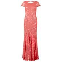 Buy Gina Bacconi Full Sequin Long Dress, Coral Online at johnlewis.com
