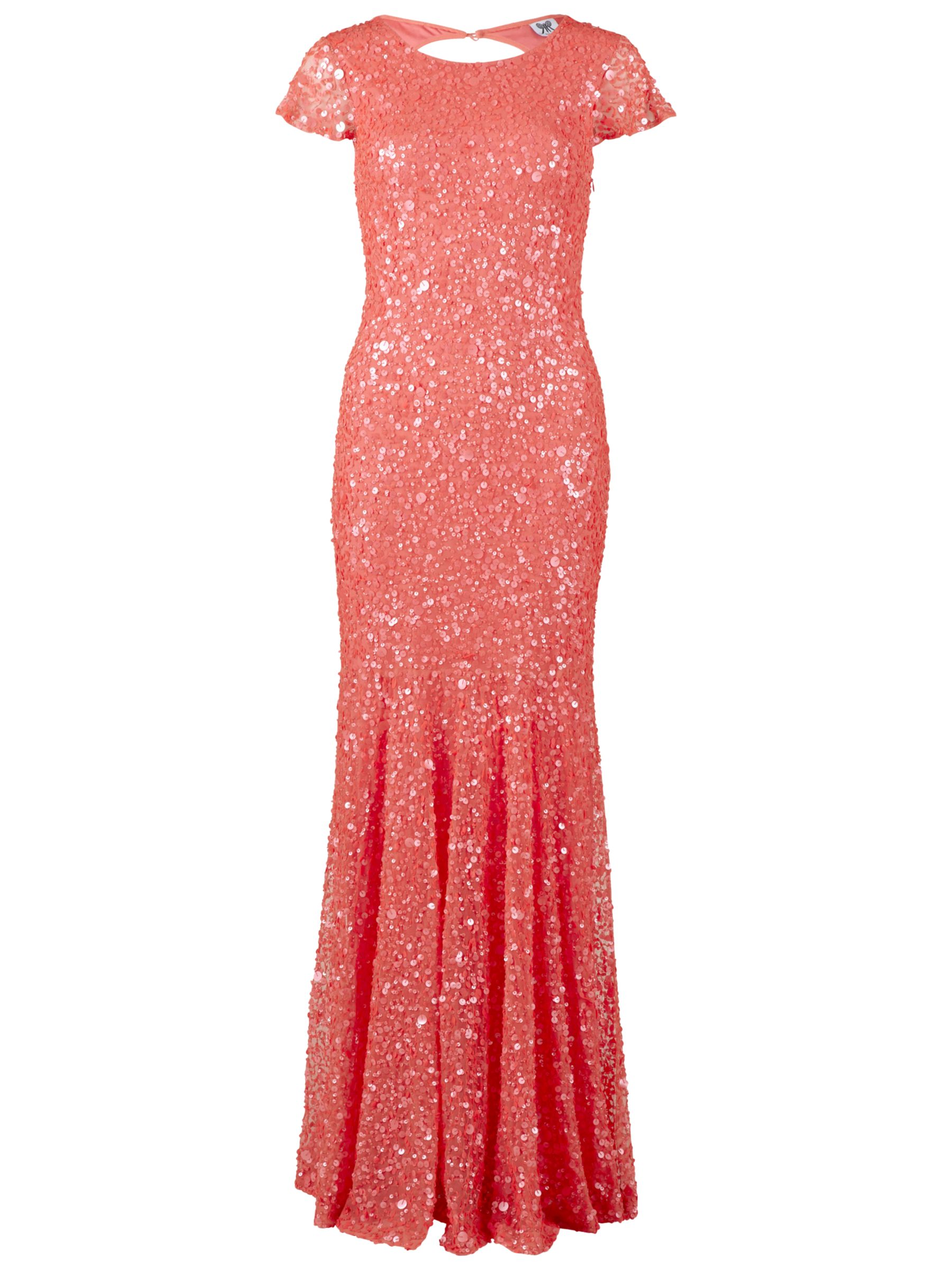 gina bacconi full sequin long dress coral, gina, bacconi, full, sequin, long, dress, coral, gina bacconi, 8|12|20|18|10|14|16|22, women, eveningwear, womens dresses, gifts, wedding, wedding clothing, adult bridesmaids, 1927988