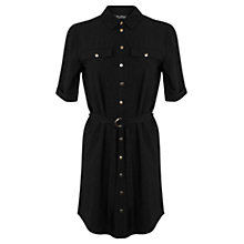 Buy Miss Selfridge Shirt Dress, Black Online at johnlewis.com