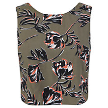 Buy Miss Selfridge Flower Crop Top, Fluorescent Green Online at johnlewis.com