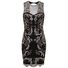 Buy Miss Selfridge Zoe Bodycon Dress, Black Online at johnlewis.com