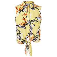Buy Miss Selfridge Sleeveless Tropical Shirt, Yellow Online at johnlewis.com