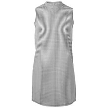 Buy Miss Selfridge Sleeveless Gingham Tunic Dress, White/Black Online at johnlewis.com