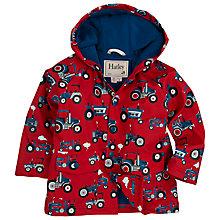 Buy Hatley Boys' Farm Tractors Rain Jacket, Red/Multi Online at johnlewis.com