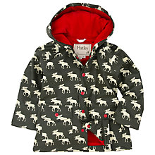 Buy Hatley Boys' AOP Moose Rain Jacket, Khaki Online at johnlewis.com