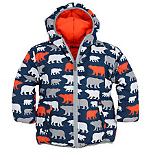 Buy Hatley Boys' Polar Bear Reversible Puffer Coat, Blue Online at johnlewis.com