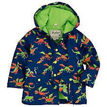 Buy Hatley Boys' Dragon Hooded Rain Jacket, Navy/Multi Online at johnlewis.com