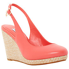 Buy Dune Cecille Espadrille Slingback Wedge Sandals, Coral Online at johnlewis.com