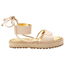 Buy Whistles Radan Leather Flatform Sandals Online at johnlewis.com