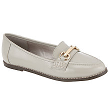 Buy John Lewis Gold Trim Moccasins Online at johnlewis.com