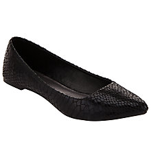 Buy John Lewis Pointed Snake Pumps, Black Online at johnlewis.com