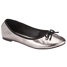 Buy John Lewis Jenni Ballerina Pumps, Pewter Online at johnlewis.com