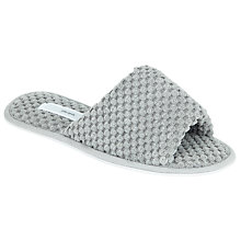 Buy John Lewis Popcorn Velour Slider Slippers, Grey Online at johnlewis.com