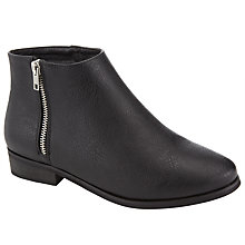Buy John Lewis Zip Ankle Boots, Black Online at johnlewis.com