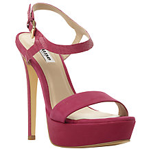 Buy Dune Michaela Platform Barely There Court Heels, Pink Suede Online at johnlewis.com