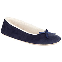 Buy John Lewis Microsuede Ballerina Slippers Online at johnlewis.com
