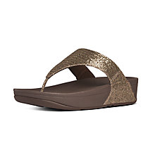 Buy FitFlop Lulu Superglitz Sandals, Gold Online at johnlewis.com
