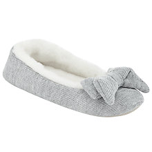 Buy John Lewis Knitted Faux Fur Ballerina Slippers Online at johnlewis.com