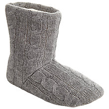 Buy John Lewis Cable Knit Slippers Online at johnlewis.com