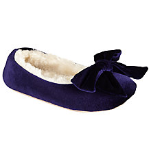 Buy John Lewis Velvet Ballerina Slippers Online at johnlewis.com