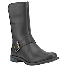 Buy Timberland Savin Hill Mid Buckle Vamp Ladies Boot, Black Leather Online at johnlewis.com
