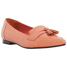 Buy Dune Glint Leather Pointed Toe Tassel Loafers Online at johnlewis.com