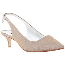 Buy Dune Cathryne Sling Back Court Court Shoes, Pink Fabric Online at johnlewis.com
