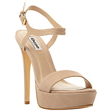 Buy Dune Michaela Platform Barely There Court Heels, Mink Suede Online at johnlewis.com