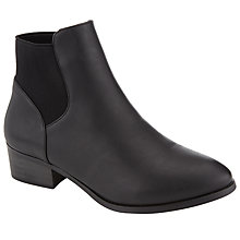 Buy John Lewis Elastic Chelsea Boots, Black Online at johnlewis.com