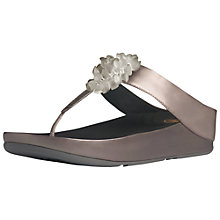 Buy FitFlop X Blossom Flip-Flops, Pewter Leather Online at johnlewis.com