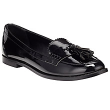 Buy John Lewis Patent Tassle Vamp Loafer, Black Online at johnlewis.com