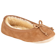 Buy John Lewis Sheepskin Ballerina Slippers, Chestnut Online at johnlewis.com