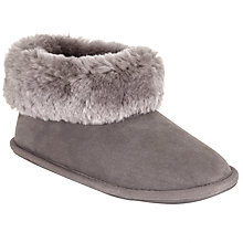 Buy John Lewis Sheepskin Boot Slippers, Grey Online at johnlewis.com