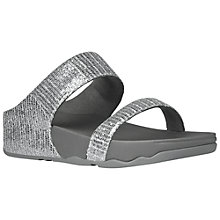 Buy FitFlop Lulu Superglitz Double Strap Sandals, Silver Online at johnlewis.com