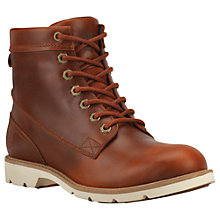 Buy Timberland Women's Bramhall 6 Inch Lace-Up Waterproof Boots, Brown Leather Online at johnlewis.com