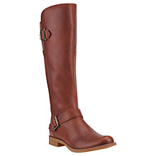 Buy Timberland Women's Savin Hill Buckle Long Boot, Brown Leather Online at johnlewis.com