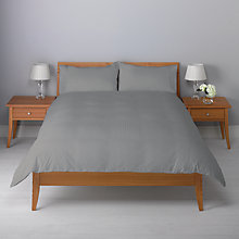 Buy John Lewis Waffle Stripe Duvet Cover Set, White Online at johnlewis.com