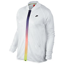 Buy Nike T/F Mesh Bomber Jacket, White Online at johnlewis.com