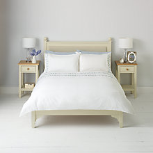 Buy John Lewis Embroidered Leaf Duvet Cover and Pillowcase Set Online at johnlewis.com