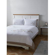 Buy John Lewis Border Embroidered Floral Duvet Cover and Pillowcase Set Online at johnlewis.com