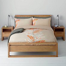 Buy John Lewis Malin Duvet Cover and Pillowcase Set, Clementine Online at johnlewis.com