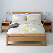 Buy John Lewis Malin Duvet Cover and Pillowcase Set, Citrine Online at johnlewis.com