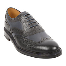 Buy Oliver Sweeney Charsfield Goodyear Welt Brogue Shoes, Black Online at johnlewis.com